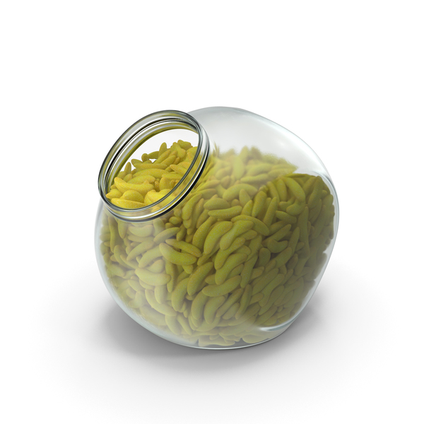 Spherical Jar with Gummy Bananas PNG & PSD Images