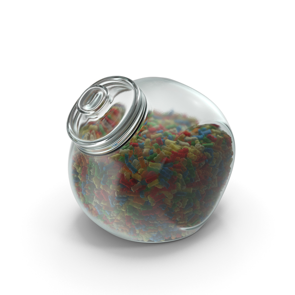 Spherical Jar with Gummy Bears PNG & PSD Images