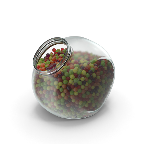 Spherical Jar with Spherical Hard Candy PNG & PSD Images