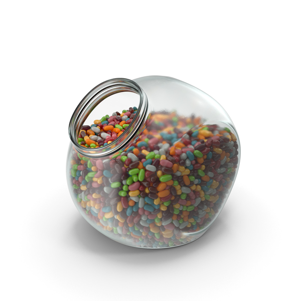 Spherical Jar with Jelly Beans PNG & PSD Images