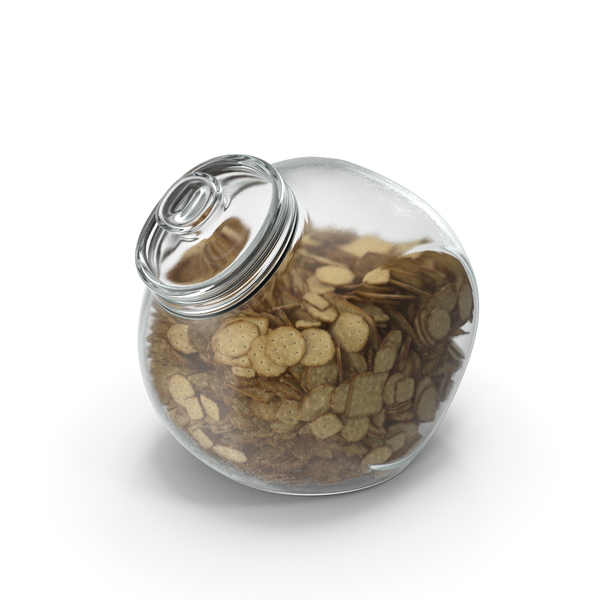 Spherical Jar with Mixed Crackers PNG & PSD Images