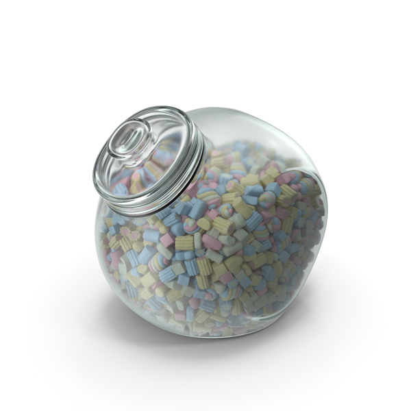 Spherical Jar with Mixed Marshmallows PNG & PSD Images