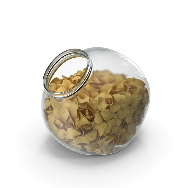 Spherical Jar with Potato Chips PNG & PSD Images