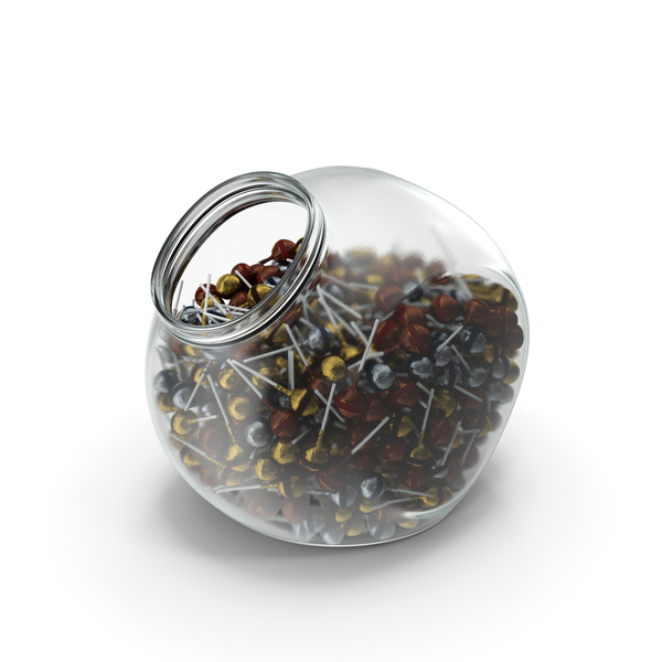 Hard Candy: Spherical Jar With Wrapped Fancy Lollipops PNG & PSD Images