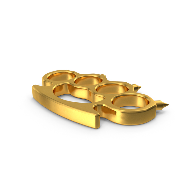 Spiked Golden Brass Knuckles PNG & PSD Images