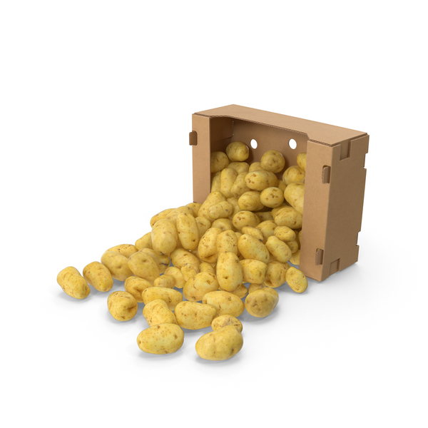 Potato: Spilled Box of Potatoes PNG & PSD Images