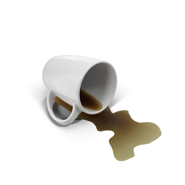 Spilled Coffee and Mug PNG & PSD Images