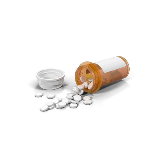 Spilled Pill Bottle PNG & PSD Images