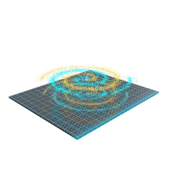 Science Fiction Device: Spiral Hologram PNG & PSD Images