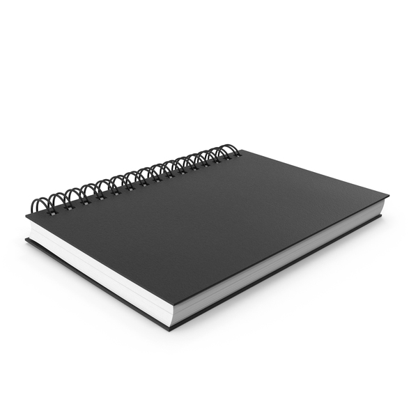 Notebook: Spiral Sketchbook PNG & PSD Images
