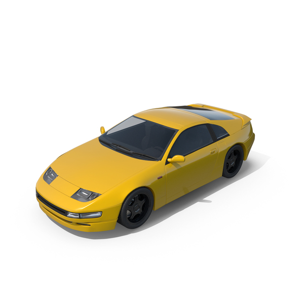Sport Car  Yellow PNG & PSD Images