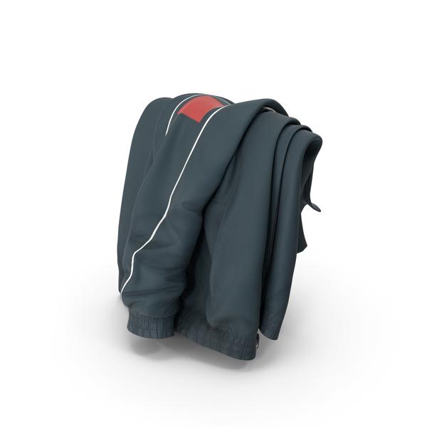 Sport Jacket Draped Dark Blue PNG & PSD Images
