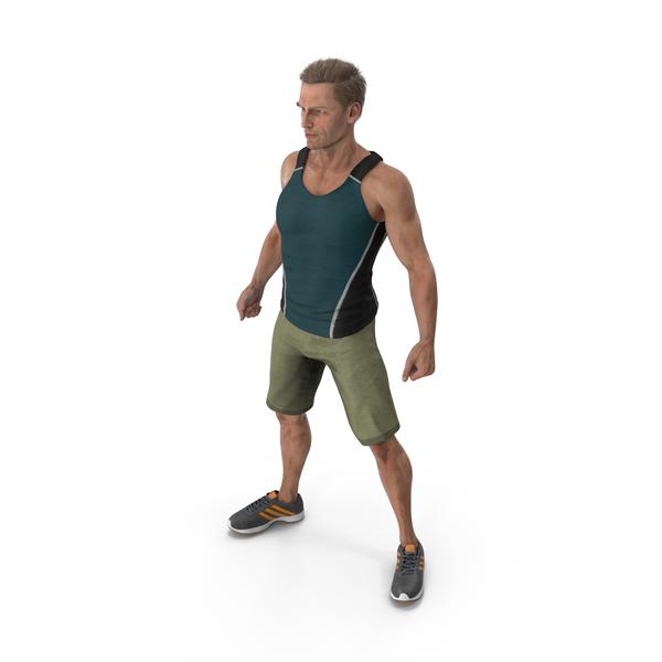 Sport Man Posing PNG & PSD Images