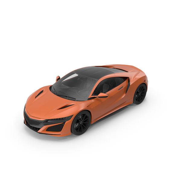 Supercar: Sports Car Orange PNG & PSD Images