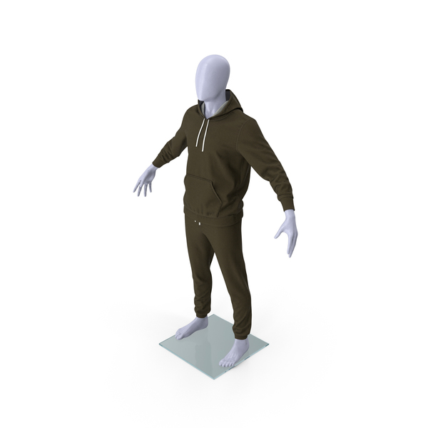 Sweatpants: Sportswear Suit Lowered Hood on Mannequin PNG & PSD Images
