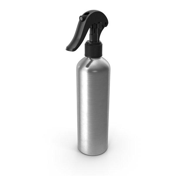 Spray Bottle Aluminum with Black Spray Top 250 ml PNG & PSD Images