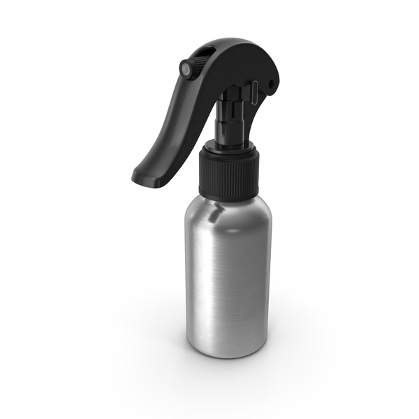 Spray Bottle Aluminum with Black Spray Top 50 ml PNG & PSD Images