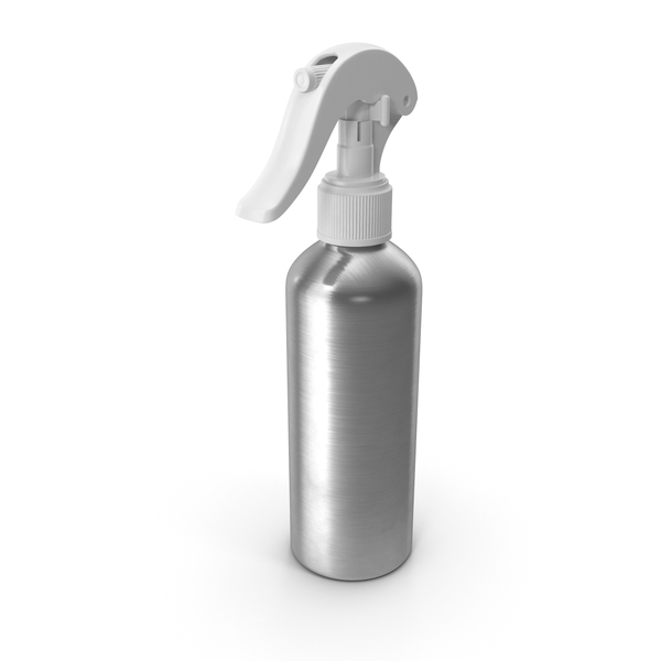 Spray Bottle Aluminum with White Spray Top 150 ml PNG & PSD Images
