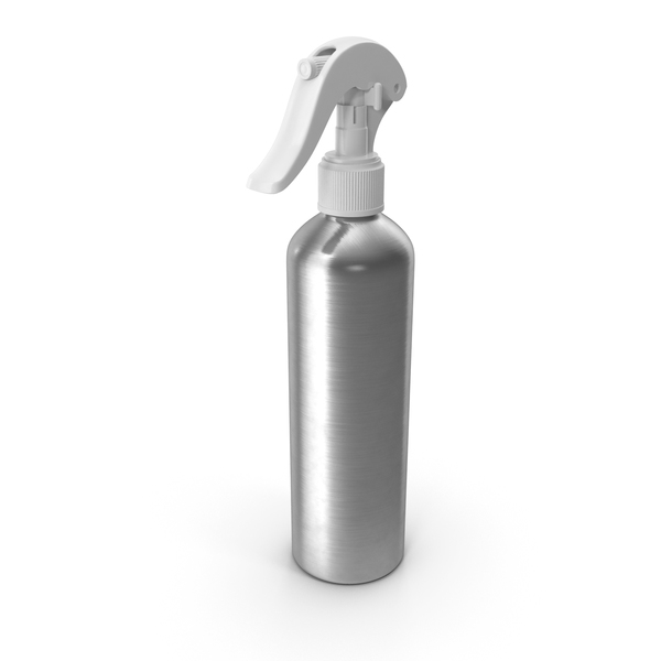 Spray Bottle Aluminum with White Spray Top 250 ml PNG & PSD Images