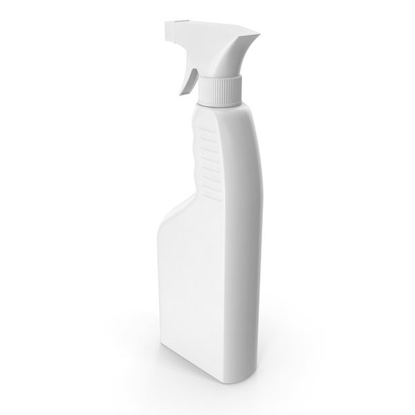 Spray Bottle White Plastic 650ml PNG & PSD Images