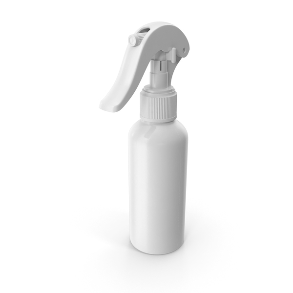Spray Bottle White Reusable 100 ml PNG & PSD Images