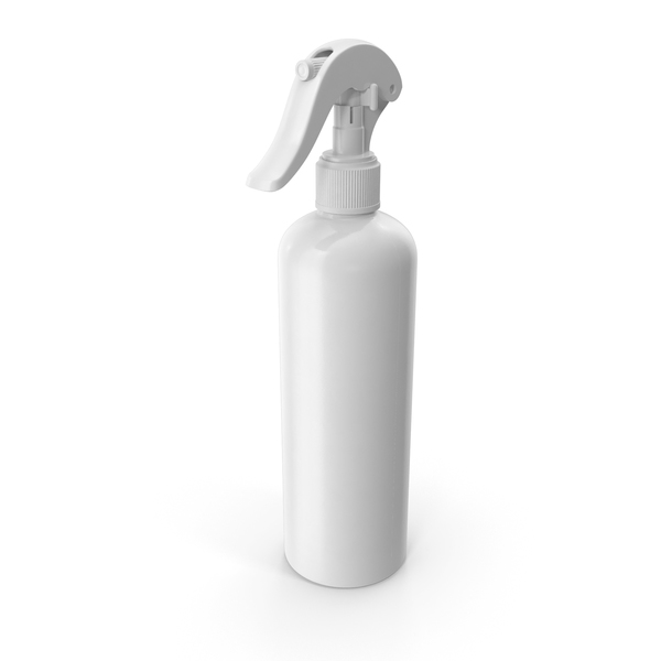 Spray Bottle White Reusable 300 ml PNG & PSD Images