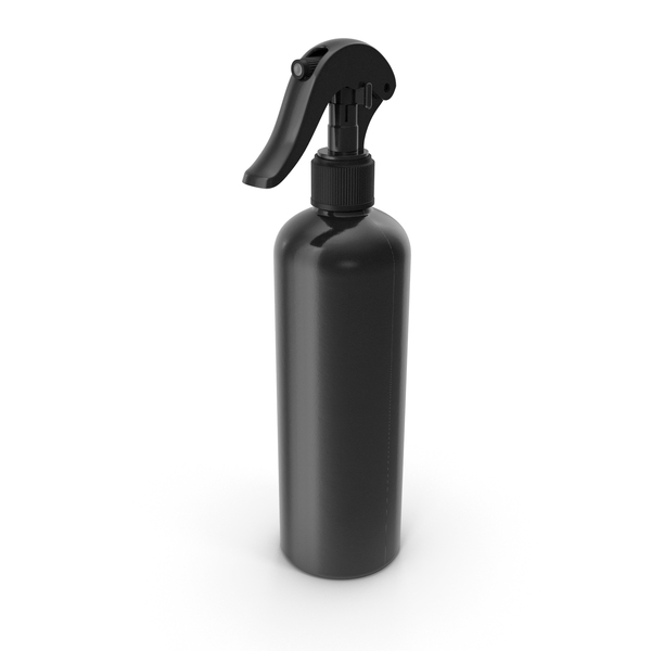 Spray_Bottle_Black_Reusable_300_ml PNG & PSD Images