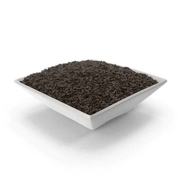 Square Bowl with Black Sesame Seeds PNG & PSD Images