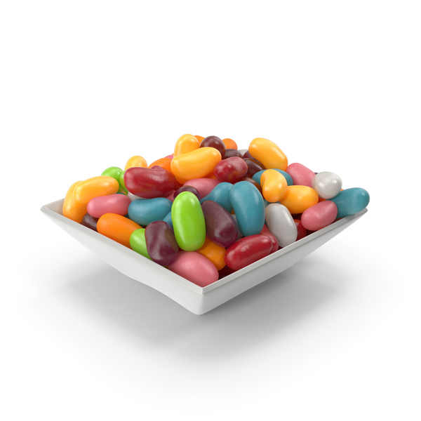 Square Bowl with Jelly beans PNG & PSD Images