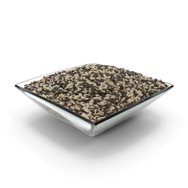 Square Bowl with Mixed Sesame Seeds PNG & PSD Images