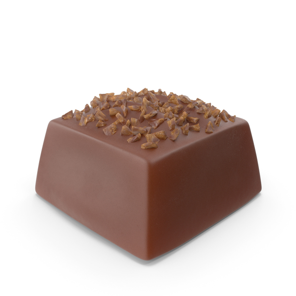 Square Chocolate Candy With Nuts PNG & PSD Images