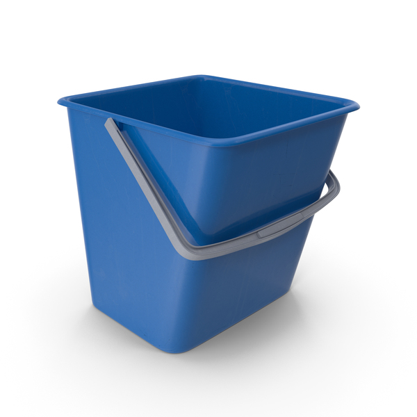Square Cleaning Bucket Blue PNG & PSD Images
