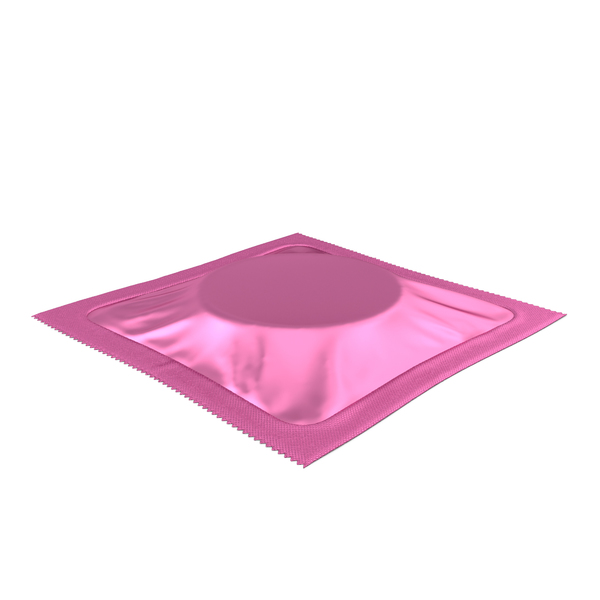 Square Condom Packaging Pink PNG & PSD Images
