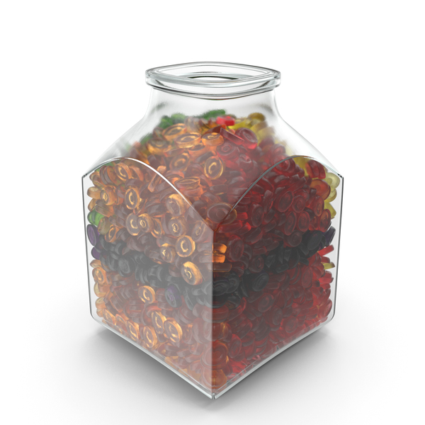 Square Jar With Oval Hard Candy PNG & PSD Images