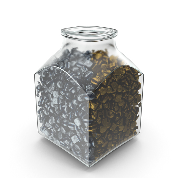 Square Jar with wrapped Fancy Bonbons PNG & PSD Images