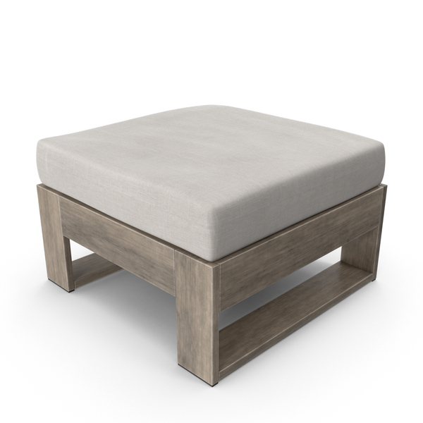 Square Outdoor Ottoman Taupe PNG & PSD Images
