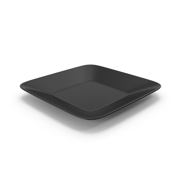 Square Plate Black PNG & PSD Images