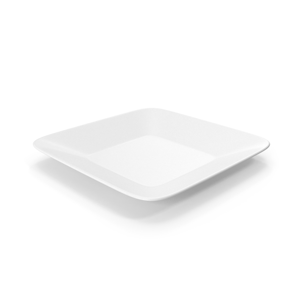 Square Plate White PNG & PSD Images