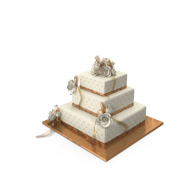 Square Wedding Cake PNG & PSD Images