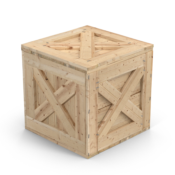 Square Wooden Crate Object
