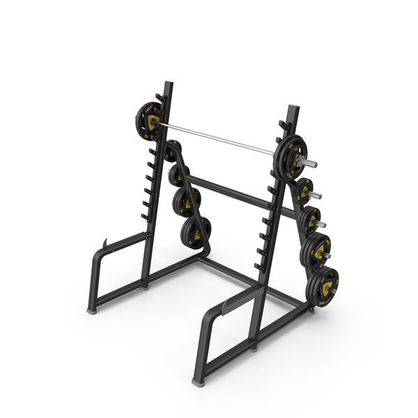 Weight Plate Tree: Squat Rack Station PNG & PSD Images