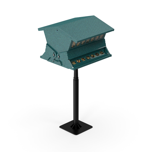 Squirrel Resistant Bird Feeder Pole with Seeds PNG & PSD Images