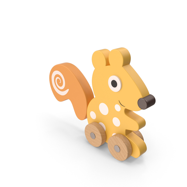 Pull: Squirrel Toy PNG & PSD Images