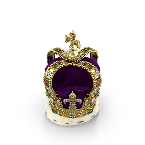 St Edwards Crown with Fur PNG & PSD Images