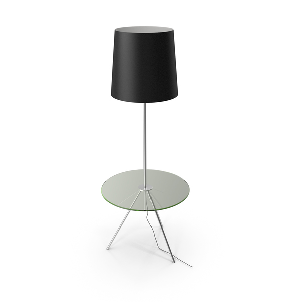 St Luce Floor Lamp with Table PNG & PSD Images