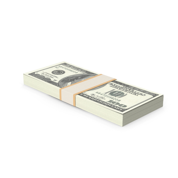 One Hundred Dollar: Stack Of 100 Dollars PNG & PSD Images