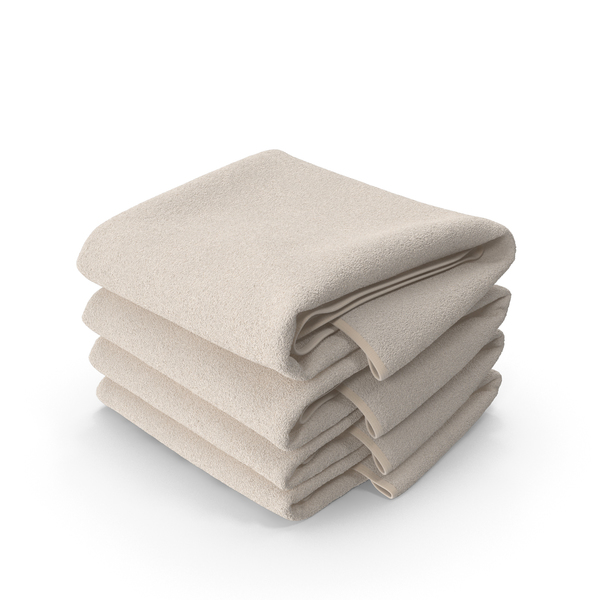 Stack of Beige Towels PNG & PSD Images