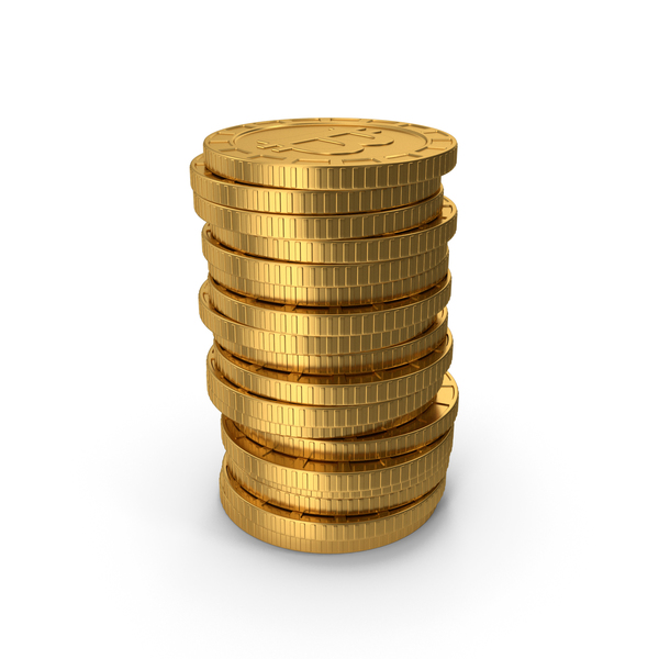 Stack Of Bitcoins PNG & PSD Images