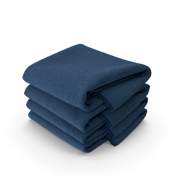 Stack of Blue Towels PNG & PSD Images