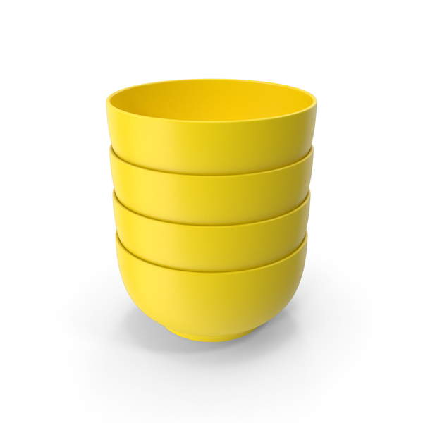 Stack Of Bowl Yellow PNG & PSD Images